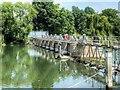 SU9875 : Sluice Gates, River Thames above Old Windsor Lock by David Dixon