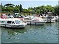 SU9876 : River Thames, Moorings at Datchet by David Dixon