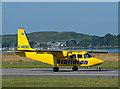 NM9035 : G-HEBO arrives at Oban Airport : Week 29