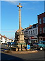 SO8932 : War Memorial Cross, Tewkesbury by Jaggery