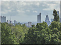 TQ3281 : City of London from Kenwood, Hampstead, London NW3 by Christine Matthews