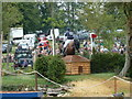 TF0405 : Fence 27, jump out of the lake at Burghley Horse Trials by Jonathan Hutchins