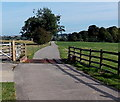 SK4103 : Cow Pastures Farm access lane, Market Bosworth by Jaggery