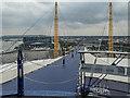 TQ3979 : Up the O2 Viewing Platform, O2 Arena, Greenwich by Christine Matthews