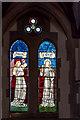 TQ2993 : Stained Glass Window, Christchurch, Waterfall Road, Southgate, London N14 by Christine Matthews