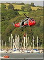 SX8851 : Air sea rescue display at Dartmouth Regatta : Week 35