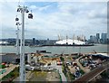 TQ3980 : Emirates Cable Car - View to Greenwich Peninsula by Rob Farrow
