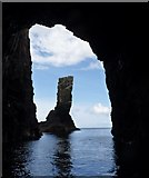 NR2947 : Soldier's Rock from inside the cave, Islay by Becky Williamson