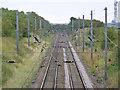 SK7277 : East Coast Main Line looking south from Eaton Lane bridge by Alan Murray-Rust