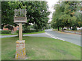 TL9175 : Sapiston village sign by Adrian S Pye