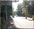SJ8479 : Whitehall Bridge Roundabout sign, Wilmslow by Jaggery
