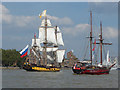 TQ3878 : Tall ships in the Thames : Week 36