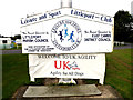 TL5687 : Littleport Sports And Leisure Centre sign by Adrian Cable