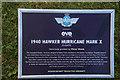 SU8707 : Goodwood Revival 2014 - Hawker Hurricane - Information Board by Christine Matthews