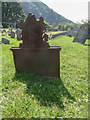 SY1988 : Iron Grave Marker, St Winifred's Church, Branscombe, Devon by Christine Matthews