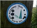 TL4189 : The Black Fen Waterway Trail marker, Folly Farm, Doddington by Richard Humphrey