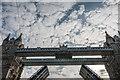 TQ3380 : Going through Tower Bridge, London by Christine Matthews