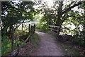 SU8484 : Footbridge, Thames Path by N Chadwick