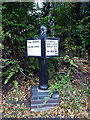 SP1184 : Canalside distance post - Kings Road bridge by Richard Law