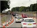 SK5535 : Roadworks on Clifton Lane by David Dixon