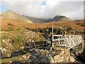 NG4121 : Footbridge over Allt Coire na Banachdich by Richard Dorrell