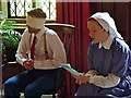 SJ7387 : Nurse Reading A Letter to a Soldier, Stamford Military Hospital, Recreation Room by David Dixon