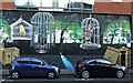 NS5964 : Graffiti style murals on Howard Street by Thomas Nugent