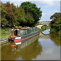 SJ8560 : Moored narrowboat near Astbury, Cheshire by Roger  Kidd