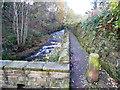 SE0426 : Sowerby Bridge FP530 alongside Luddenden Brook by Humphrey Bolton