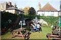 TR3258 : North corner of walled garden in Sandwich by Clint Mann