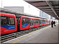 TQ3884 : DLR train at Stratford Station by Oast House Archive