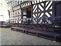 SJ8358 : Seating ready for first night of 'Twelfth Night' at Little Moreton Hall by Jonathan Hutchins