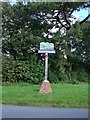 TL6957 : Kirtling and Upend village sign by Adrian S Pye
