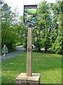 TL6751 : Little Thurlow village sign by Adrian S Pye