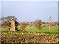 TL6241 : Triangulation pillar near Helions Bumpstead by Robin Webster