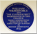 Photo of William Wilberforce blue plaque