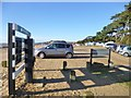 SZ4598 : Lepe, car park by Mike Faherty