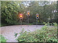 SK2380 : Traffic Lights in a Garden by Andrew Tryon