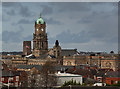 SJ3288 : Birkenhead Town Hall viewed from the top of St Mary's Tower : Week 2