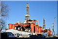 J3676 : Two oil rigs, Harland & Wolff, Belfast - January 2015(1) by Albert Bridge