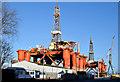 J3676 : Two oil rigs, Harland & Wolff, Belfast - January 2015(1) by Albert Bridge