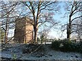 SJ4461 : Saighton water tower, from the south-west by Christine Johnstone