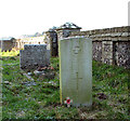 TG1520 : War grave in St Peter's churchyard by Evelyn Simak