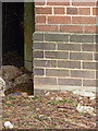 SP1289 : OS benchmark - Hodgehill, Twycross Grove substation by Richard Law