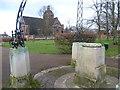 TQ2588 : The Henrietta Barnett Memorial and The Free Church, Hampstead Garden Suburb by Marathon
