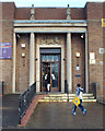 SP1284 : Entrance, South Yardley Library, Yardley Road by Robin Stott
