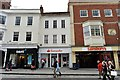 SU9949 : Guildford:  The High Street, Pedestrianised Section by Michael Garlick