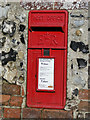 TL9190 : Postbox set into the wall at Manor Farm, Wretham by Adrian S Pye
