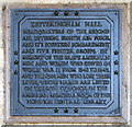 TG1602 : Ketteringham Hall (memorial plaque) by Evelyn Simak