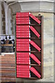 TQ7718 : Hymn books, St John the Baptist church, Sedlescombe  : Week 8